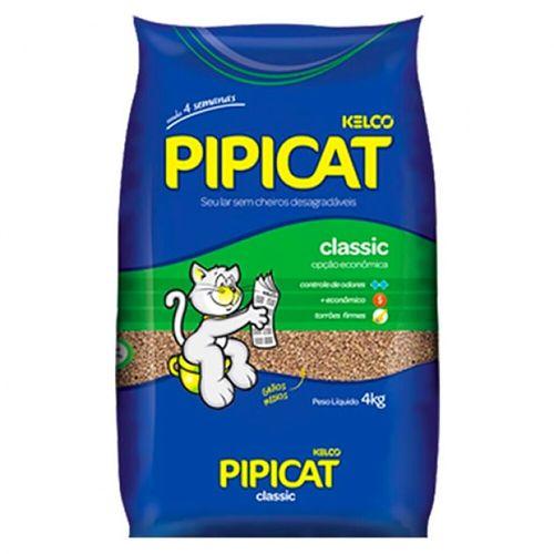 Areia Higiênica Pipicat Classic Kelco Pacote 4Kg