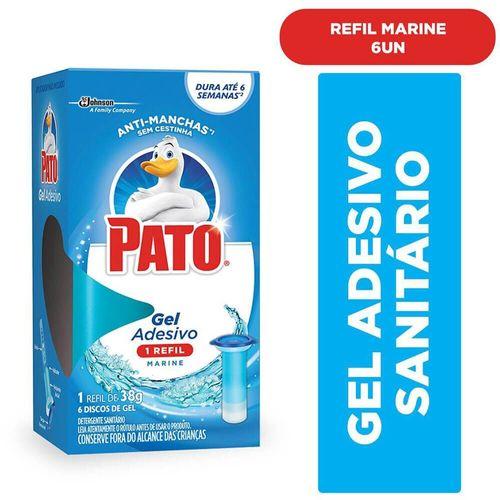 Desodorizador Sanitário Pato Marine Gel Adesivo Refil 38G