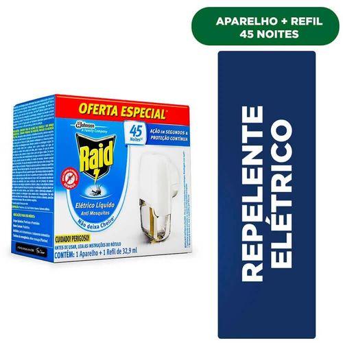 Repelente Elétrico Líquido Anti Mosquitos Raid Aparelho + Refil