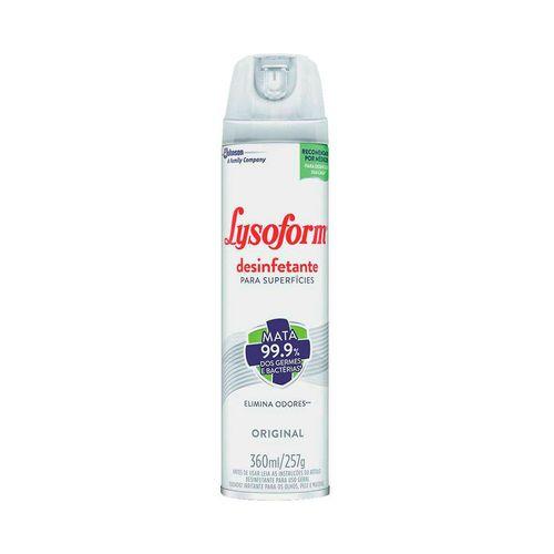 Desinfetante Aerossol Original Lysoform 360Ml