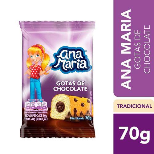 Bolo Gotas de Chocolate Ana Maria 70G