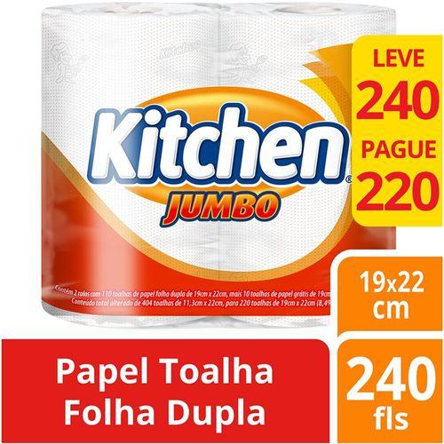 Toalha de Papel Kitchen Jumbo - 2 Unidades