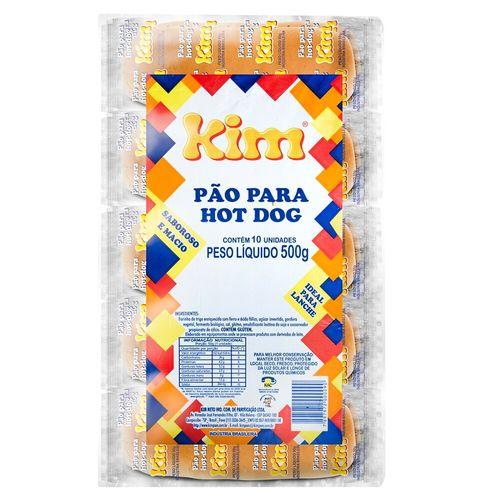 Pão de Hot Dog Kim Pacote - 10 Unidades