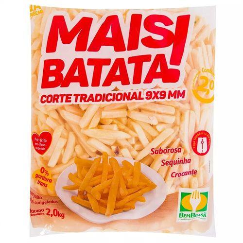 Batata Palito Mais Batata Congelada Bem Brasil 2Kg