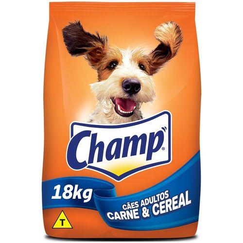 Ração para Cães Adultos Sabor Carne com Vegetais Champ 18Kg