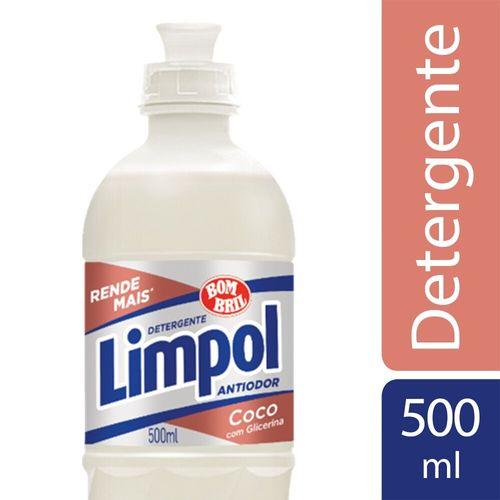 Detergente Líquido Coco Limpol 500Ml