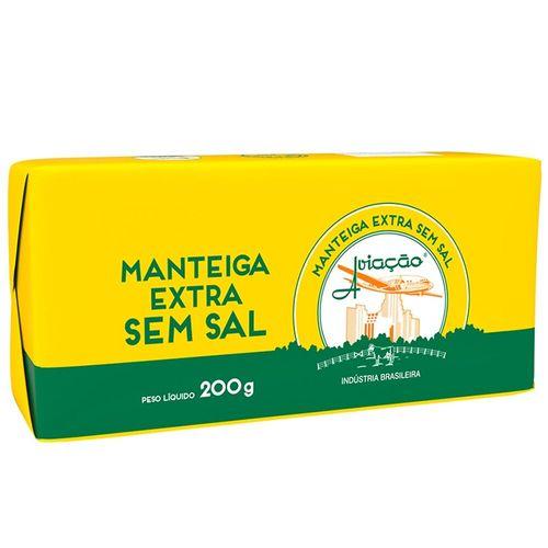 Manteiga Tablete Extra sem Sal Aviação 200G