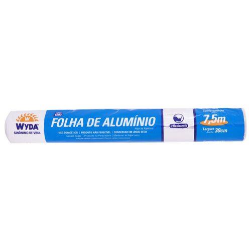 Papel Alumínio Wyda 30cm x 7,5cm