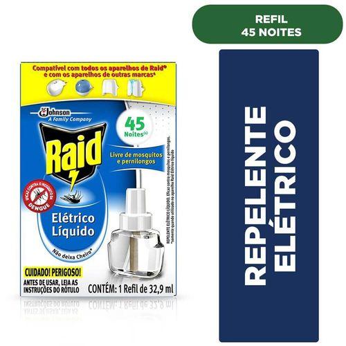 Refil para Repelente Elétrico Líquido Raid 32,9Ml