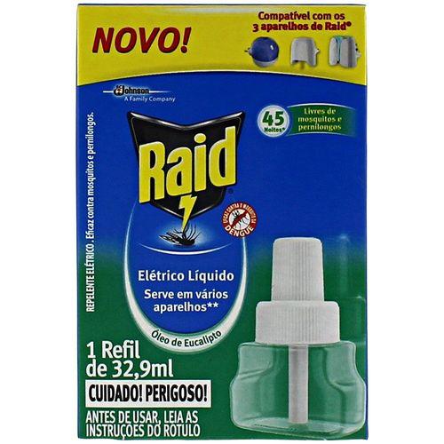 Refil para Repelente Elétrico Óleo Eucalipto Raid 32,9Ml