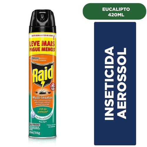 Inseticida Aerossol Eucalipto Raid - Leve 420Ml Pague 360Ml