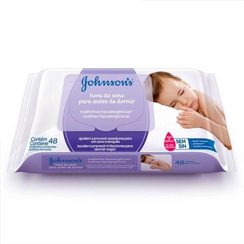 Lenço Umedecido Hora do Sono Johnson's - 48 Unidades