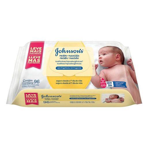 Lenço Umedecido Recém-Nascido Johnson's Baby - 96 Unidades