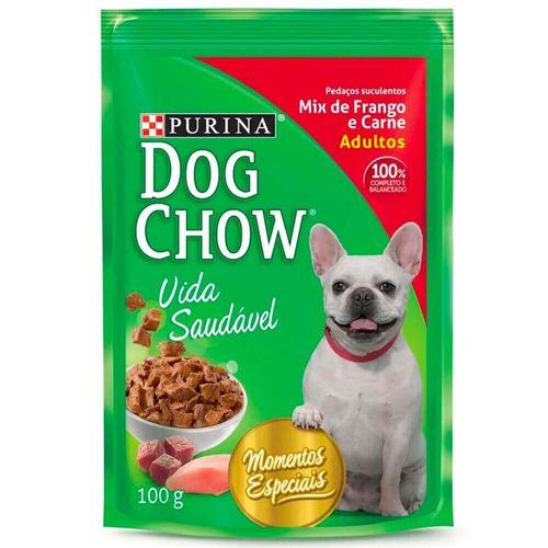 Ração Úmida Sabor Mix de Frango e Carne Adulto Dog Chow Sachê 100G