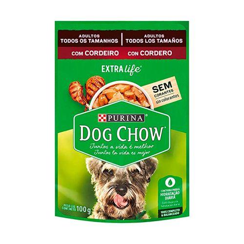 Ração Úmida Sabor Cordeiro Tenro Dog Chow Sachê 100G