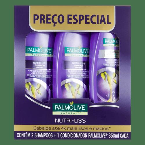 Kit 2 Shampoos + 1 Condicionador Palmolive Nutriliss 350Ml