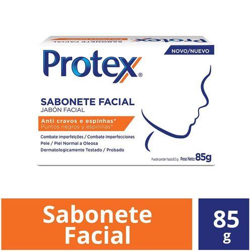 Sabonete em Barra Facial Anti Cravos e Espinhas Protex 85G