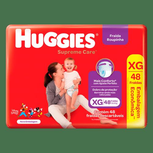 Fralda Roupinha Huggies Supreme Care Hiper XG - 48 Unidades