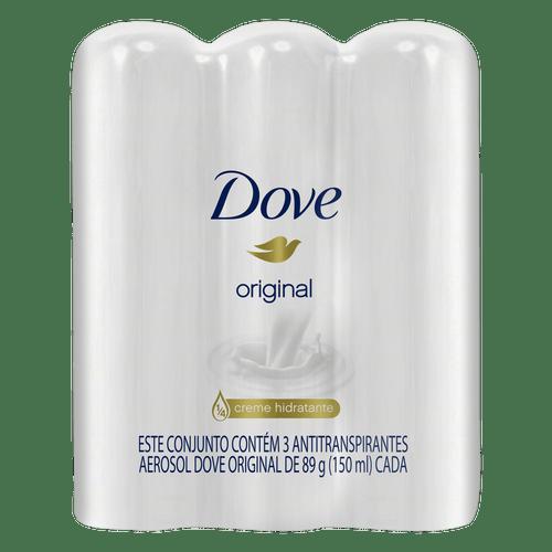 Pack Desodorante Aerossol Dove Original - 3 Unidades