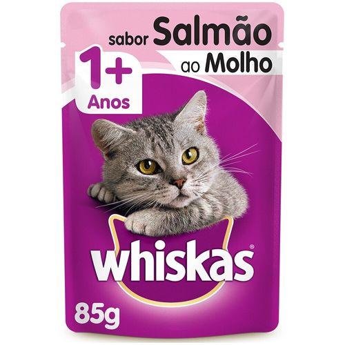 Ração Úmida para Gato Sabor Salmão Whiskas Sachê 85G