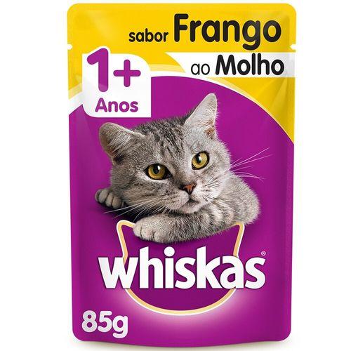 Ração Úmida para Gato Sabor Frango Whiskas Sachê 85G