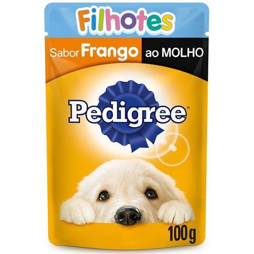 Ração Úmida Para Cães Filhotes Sabor Frango Ao Molho Pedigree 100G