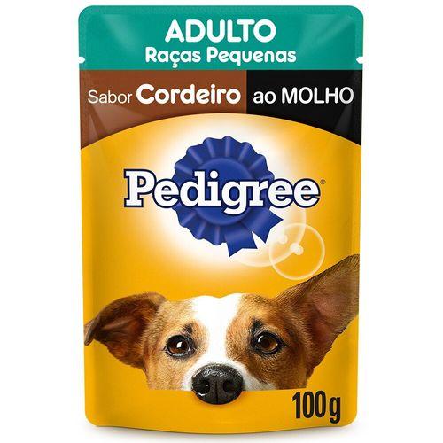 Ração Úmida Para Cães Adultos de Raças Pequenas Sabor Cordeiro Pedigree 100G