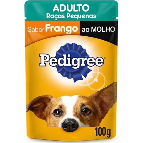 Ração Úmida Para Cães Adultos Raças Pequenas Frango ao Molho Pedigree 100G