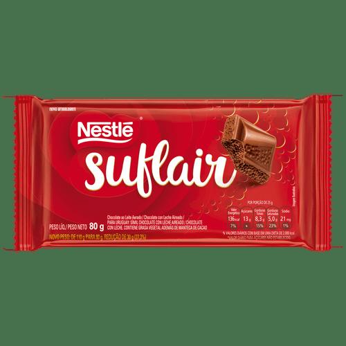 Chocolate ao Leite Suflair 80G
