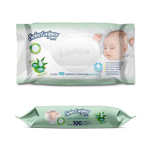 Lenço Umedecido Baby Select Wipes - 100 Unidades