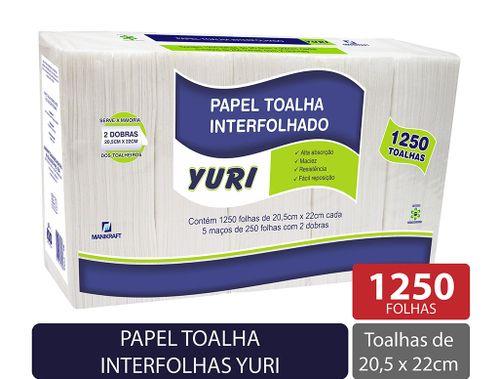 Toalha Interfolhado Yuri 20,5 x 22cm - 1250 Unidades